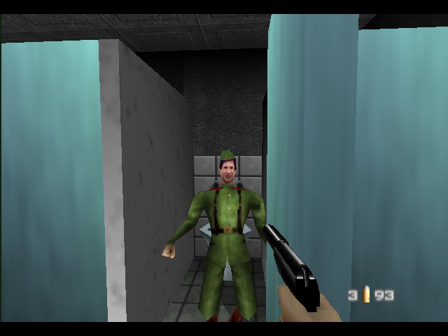 GoldenEye 007 - Why is he smiling? - User Screenshot